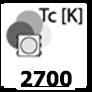 ca. 2700 Kelvin